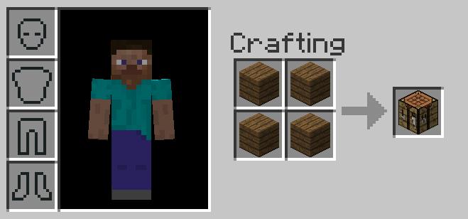 Как сделать верстак из 4 досок в minecraft